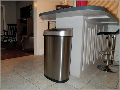Cabinet Trash Can With Lid by Kitchen Trash Cans In Cabinet Home Design Ideas
