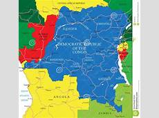Democratic Republic Of The Congo Mapformer Zaire Stock
