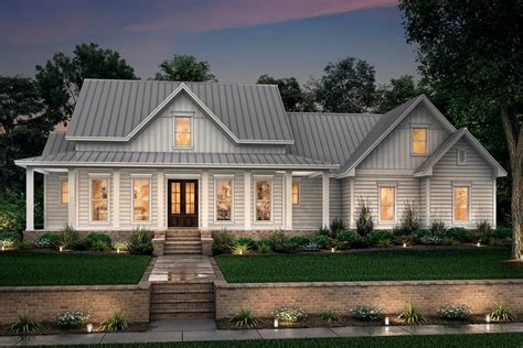farmhouse style house plan  beds  baths  sqft plan   houseplanscom