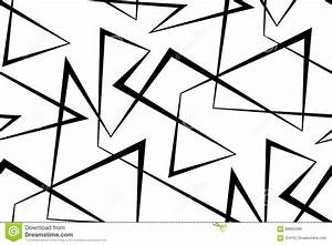 Abstract Vector Seamless White Background Of Black Lines ...