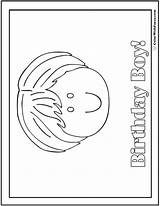 Birthday Coloring Happy Pages Boy Printable Pdf Colorwithfuzzy sketch template