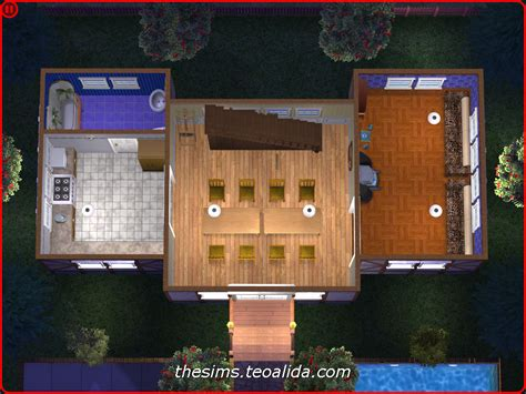 symmetrical houses symmetrical rustic style house on 2x2 lot the sims fan page