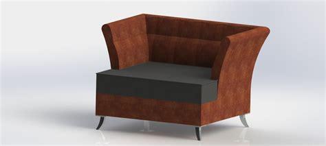 Armchair Free 3d Model .dwg .sldprt .sldasm .slddrw .ige