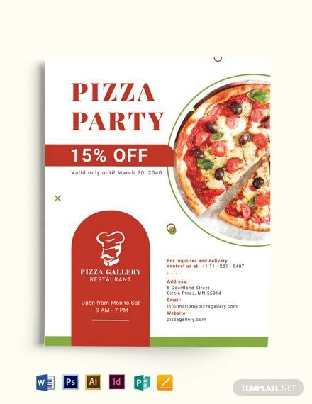 pizza restaurant advertising flyer template word psd
