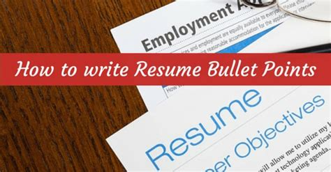 writing resume bullet points