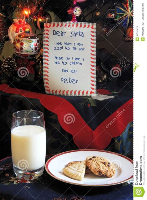 letter  father christmas  biscuits  milk stock