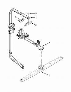 Upper Wash And Rinse Parts Diagram  U0026 Parts List For Model Wdf750saym3 Whirlpool