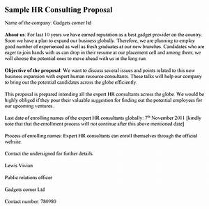 hr consulting proposal template With hr consulting proposal template