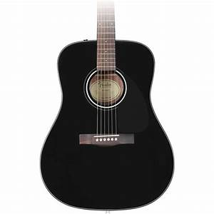 Fender CD-60 Acoustic Guitar, Black at Gear4music.com