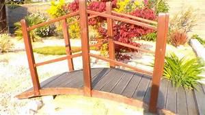 Pont En Bois Pour Jardin : to create a japanese garden creer un jardin japonais fabriquer un pont youtube ~ Nature-et-papiers.com Idées de Décoration
