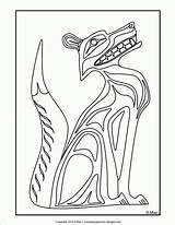 Coloring Native American Pages Printables Symbols Northwest Popular sketch template