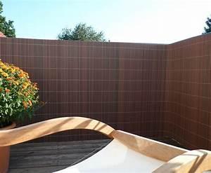 Balkon Sichtschutz QuotSyltquot Mit 140 X 200cm Nussbaum