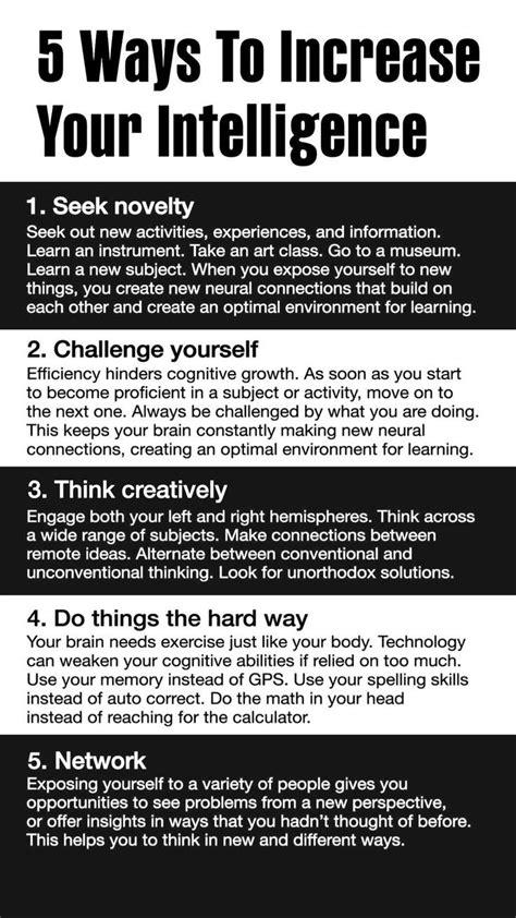 5 ways to increase your intelligence | Mindset | Self