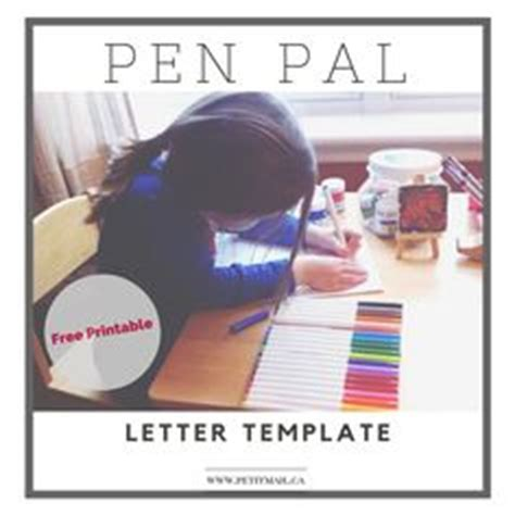 printable  pal letter template  kids inspired