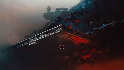 Wars Empty Ship Space Destroyer Thorp Ash