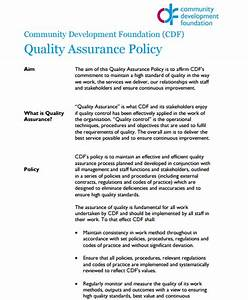 Quality assurance policy templates word excel samples for Quality assurance policy template