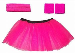PINK NEON TUTU SKIRT FANCY DRESS HEN PARTY PARTY UV