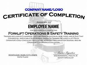 9 best images of printable safety certificates safety With forklift licence template