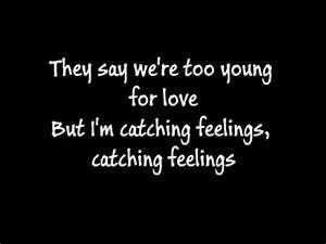Justin Bieber Catching Feelings Lyrics YouTube