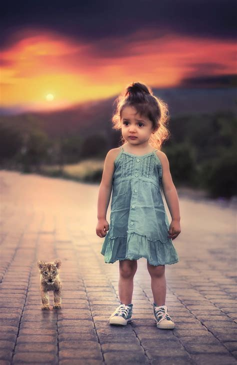 Cute Beautiful Little Girl Hd Picture  Kids Stock Photo
