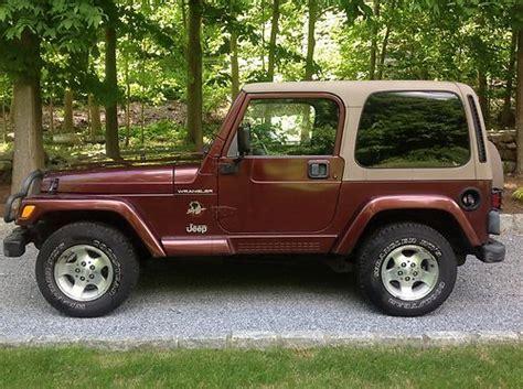 tan jeep wrangler 2 door sell used 2002 jeep wrangler sahara sport utility 2 door 4