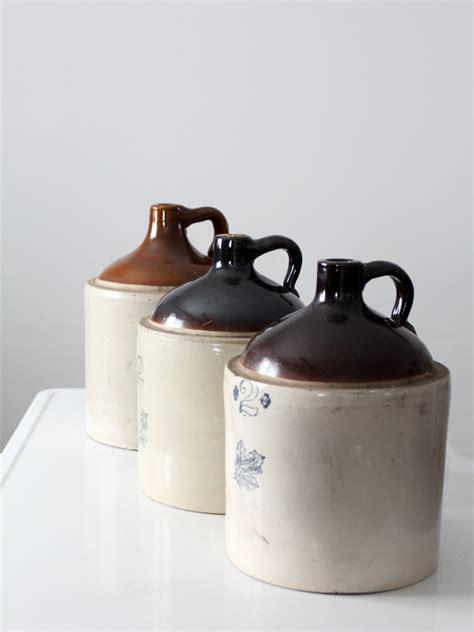 antique stoneware jug western stoneware  gallon jug