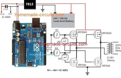 Arduino Full Bridge Inverter Circuit Homemade
