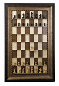 Vertical Wall Mounted Light Maple Chess Board with