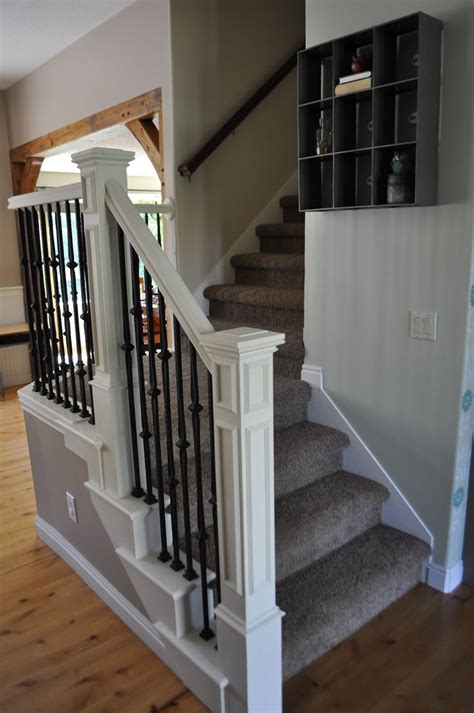 Stair Banister Pictures by 25 Best Ideas About Painted Stair Railings On