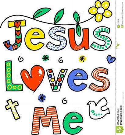 Jesus Loves Quotes Message Illustration Isolated Decorative