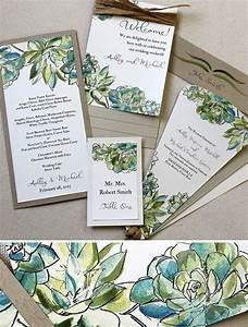 25 best ideas about succulent wedding invitations on With wedding invitations with succulents
