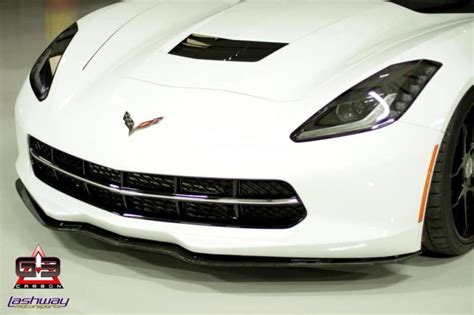 carbon front splitter corvette creationz