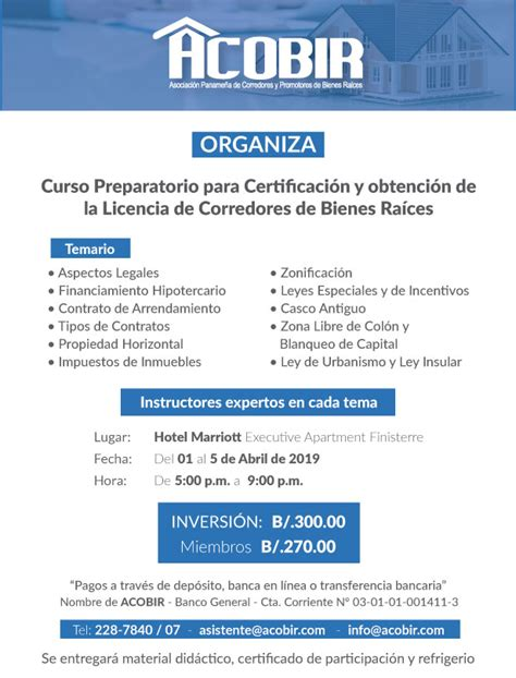 2do. Curso Preparatorio para optar por la Licencia de ...