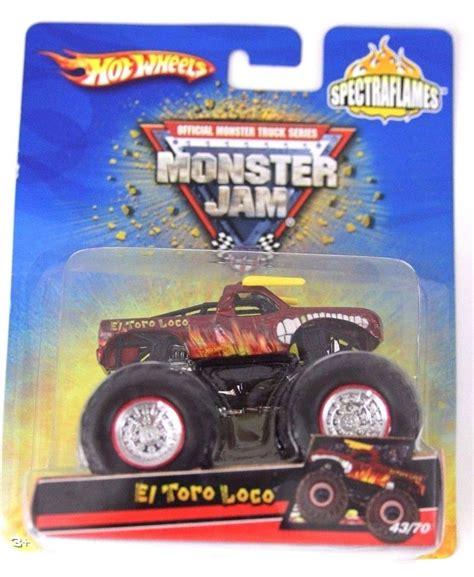 monster jam trucks list wheels monster jam spectraflames el toro loco die cast