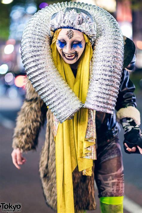 harajuku street style featuring avant garde handmade fashion  metal tubing tokyo fashion