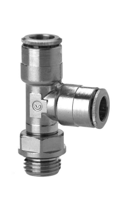 6442 Swivel Run Tee Push In Fitting - Camozzi Automation Ltd