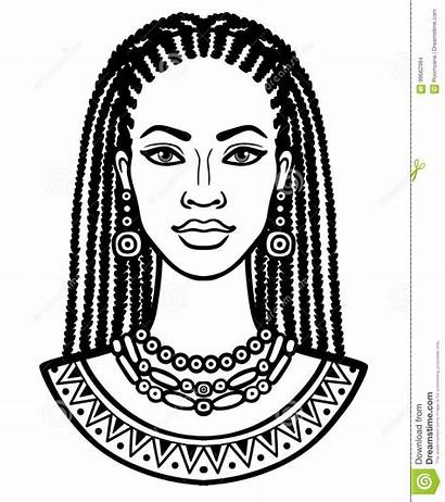 Africana Desenho Mulher Drawing Disegno Donna Line