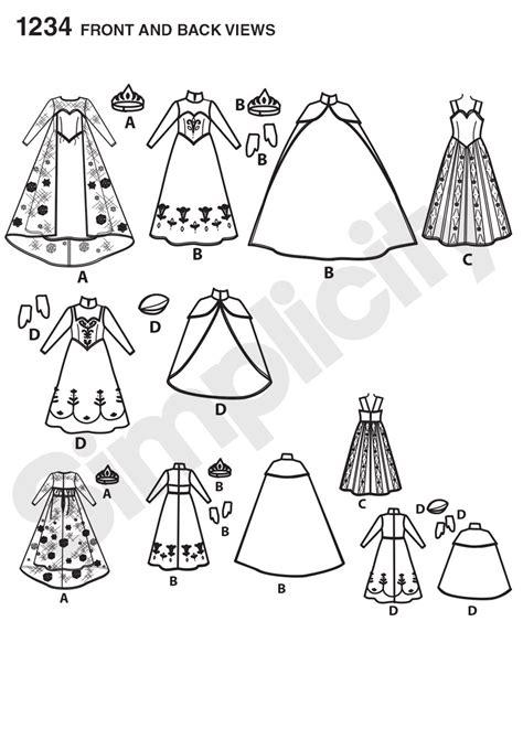 simplicity  disneys frozen   doll clothes