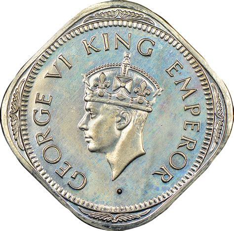 India-British 2 Annas KM 542 Prices & Values   NGC