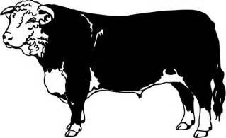 Hereford Bull Silhouette Clip Art