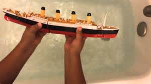 Sinking In The Bathtub Youtube by Titanic Submersible Model Sinking Youtube