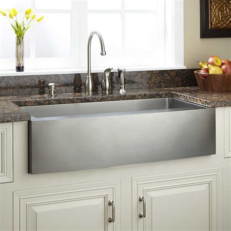 kitchen islands houzz 39 quot optimum stainless steel farmhouse sink curved apron