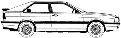 car blueprints 1984 audi 80 b2 gt coupe blueprint