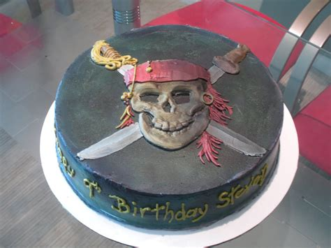 pirates   caribbean birthday cake printable