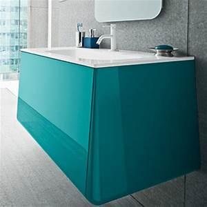Meuble De Salle De Bain Bleu : meuble salle de bain campus turquoise ~ Teatrodelosmanantiales.com Idées de Décoration