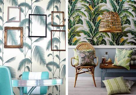 zoom sur les tendances la deco tropicale tapisserie