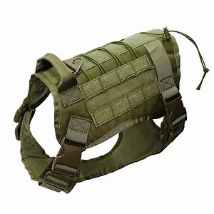 Military Working Dog Harness K9 Molle Large Police Dog ...