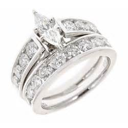 marquise wedding set 2 95 ct t w marquise and engagement ring set in 14k white gold h i i1 sam 39 s club