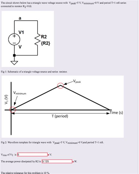 Solved The Circuit Shown Below Has Triangle Wave Voltag