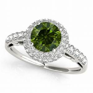 1 carat green diamond engagement ring best price 14k white With best price wedding rings